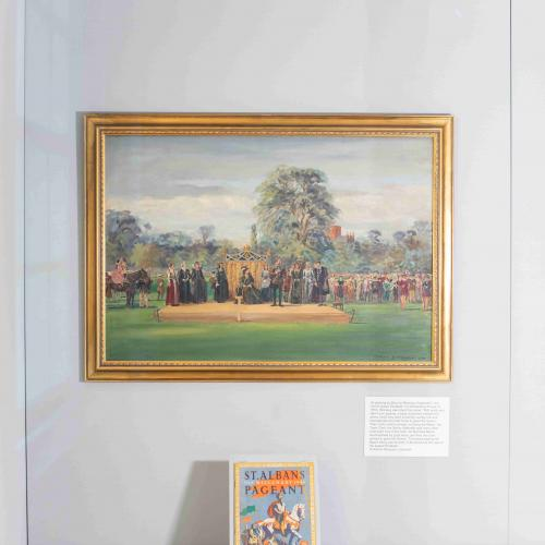 Pageant Fever - exhibition (painting of St Albans Pageant)