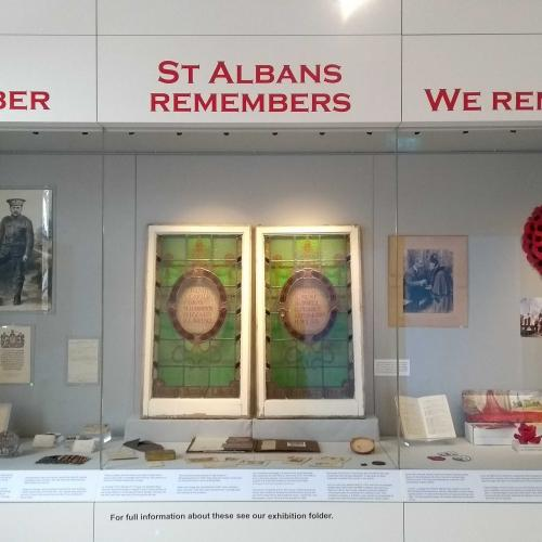 St Albans Legacy exhibition cases