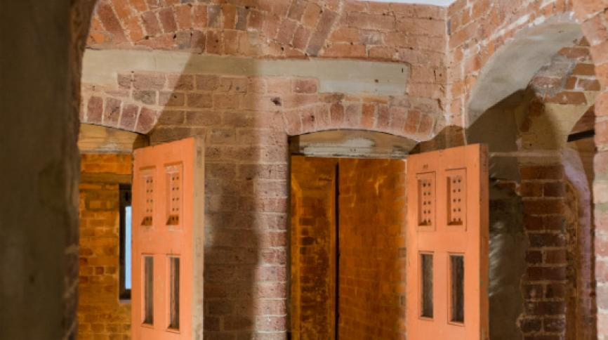 Victorian red brick holding cells
