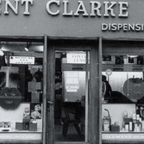 1, Market Place, Clement Clarke Opticians, from the St Albans Street Survey 1986