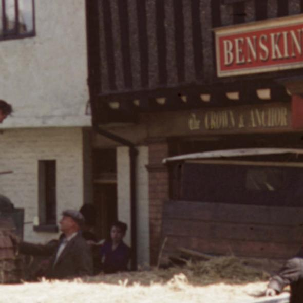 Lorry crashes into The Crown and Anchor pub on the corner of Sopwell Lane and Holywell Hill, 1958