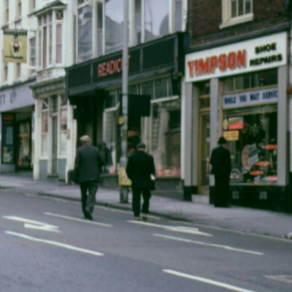 Looking up Chequer Street towards the Old Town, c.1964