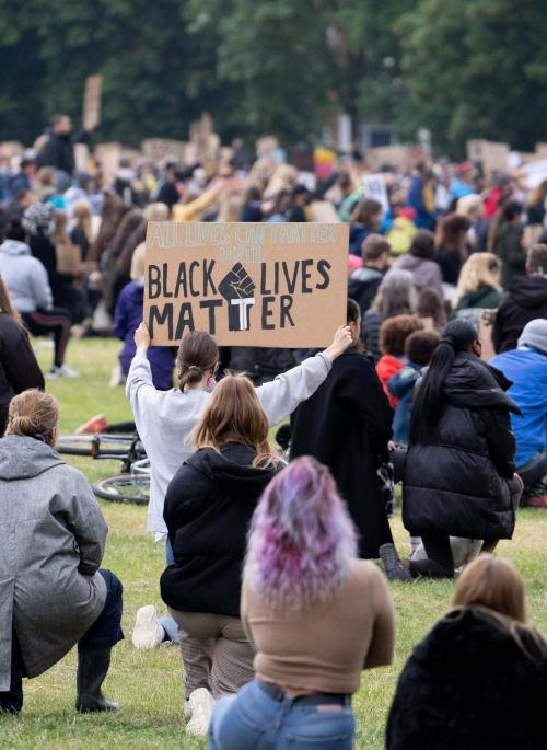 Black Lives Matter protest in Verulamium Park